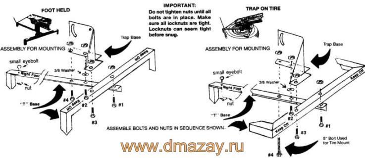 Машинка для стрельбы (метания тарелок, запуска мишеней) механическая TRIUS Trap BIRDSHOOTER 2 CLAY TRAP 10220 (регулируемый угол