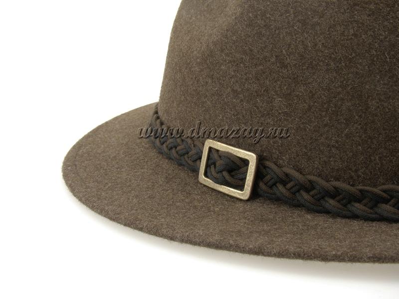 Фетровая шляпа широкополая WERRA HUNTING 0925 ANTON из шерстяного войлока коричневого цвета, Чехия.