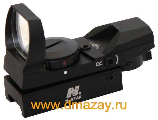 ����������� ������������� ������ (����������) NcSTAR D4RGB Red Dot Sight Red & Green Illuminators/Black (4 ���������� �����, ������� � ������� ���������)